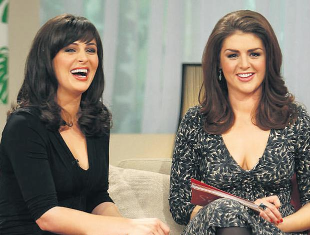 BLOOD IS THICKER THAN WATER: Grainne and Sile Seoige on their last afternoon show on RTE last Friday