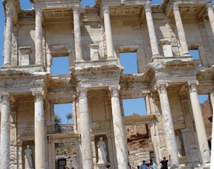 Roman ruins at Ephesus in Turkey