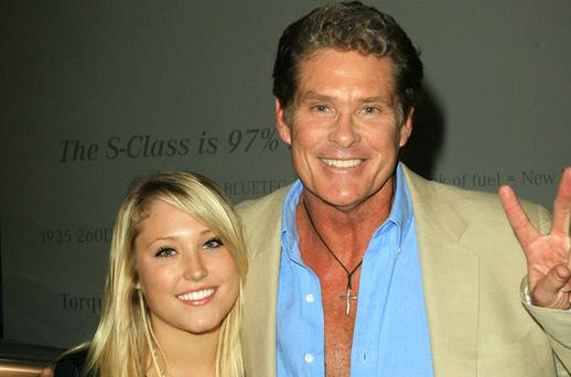Actor David Hasselhoff (R) and daughter Hayley Amber Hasselhoff Photo: Getty Images