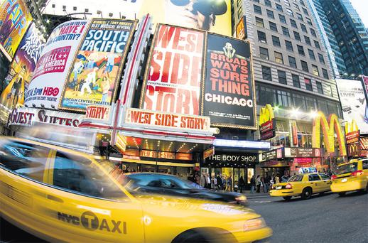The bright lights of Broadway, New York's theatreland