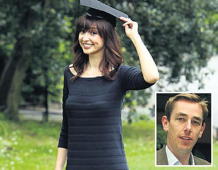 Ryan Tubridy's girlfriend Aoibhinn Ni Shuilleabhain yesterday highlighted how vital healthy eating can be for students as they face into exams