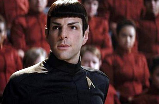 Zachary Quinto stars as Spock in 'Star Trek' - it doesn't get any geekier than that. Maybe it's just me but do those pointy ears, sugar bowl haircut and weird eyebrows somehow look good?