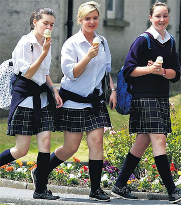 Amy Synnott, Zara Lott and Sionna Healy who sat their Junior Cert English at St Mary's College, Arklow