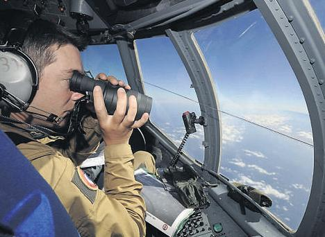 Mystery: French army crewmen patrol for the missing plane