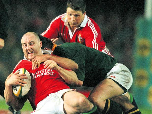 Former Irish captain Keith Wood during the 1997 Lions Tour