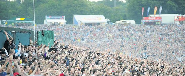 The Oasis show at Slane Castle in 2009 attracted a capacity crowd of 80,000