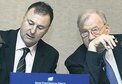 Chief executive Eamon Rothwell (left) with Chairman John McGuckian