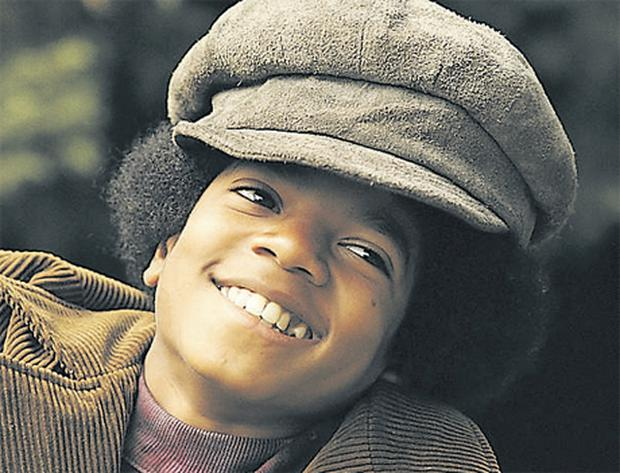 The young Michael Jackson, who once described himself as 'most comfortable' on stage, but 'very sad' off it.
