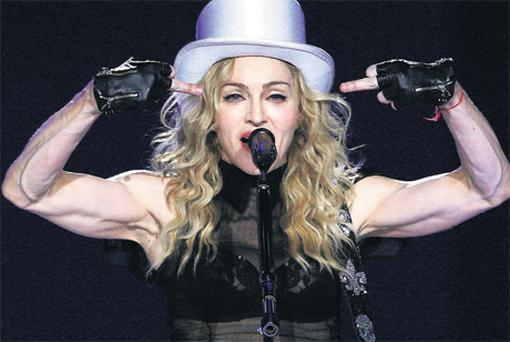 Madonna has prominent veins in her arms