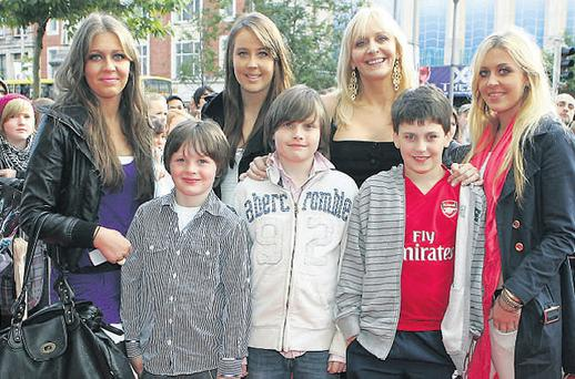 RTE star Miriam O'Callaghan also came along with six of her eight children, twin daughters Jessica and Georgia (16) , Clara (17) and sons Jack (11), Daniel (10) and Conor (7). Photo: Getty Images