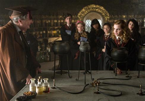 A scene from the new Harry Potter film 'Harry Potter and the Half-Blood Prince'