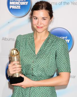 Lisa Hannigan poses with her nomination for the 2009 Barclaycard Mercury Prize for her album 'Sea Sew'' at The Hospital on July 21, 2009 in London. Photo: Getty Images