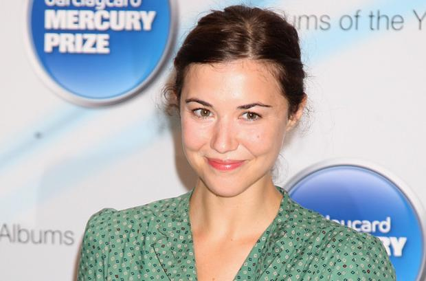 Lisa Hannigan poses with her nomination for the 2009 Barclaycard Mercury Prize for her album 'Sea Sew'' at The Hospital in London. Photo: Getty Images
