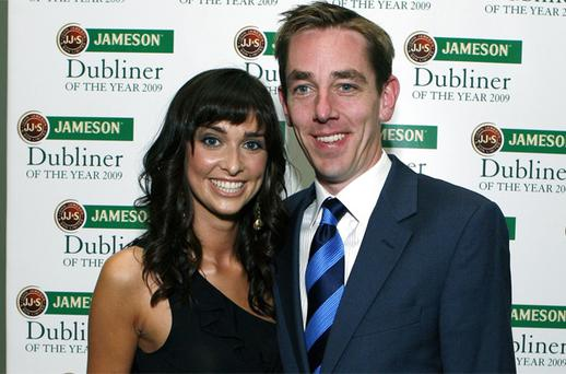 RTE's Ryan Tubridy and partner Aoibhinn Ni Shuilleabhain will compete for listeners when she joins Newstalk as a stand-in host