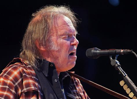 Neil Young who Played at the O2