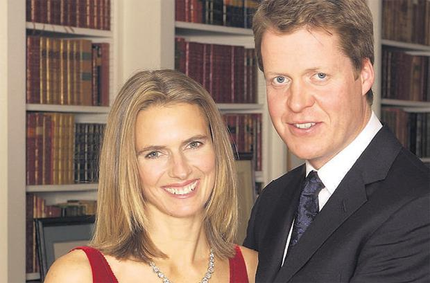 Caroline, pictured with Charles, after their marriage in Althorp in 2001.