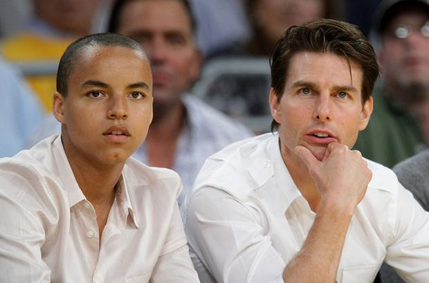Tom Cruise with his son Conor, who he adopted during his marriage to Nicole Kidman. Photo: Getty Images