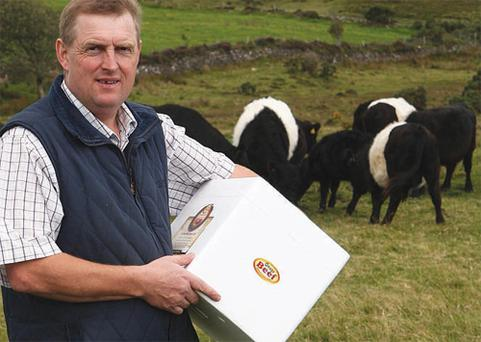 PEAK PRACTICE: Joe Condon's farm, featured in the Farming Independent in June, produces organic Galloway beef in Co Tipperary. Joe is one of the mentors on the Organics with Altitude project along with Dr Oliver Moore.