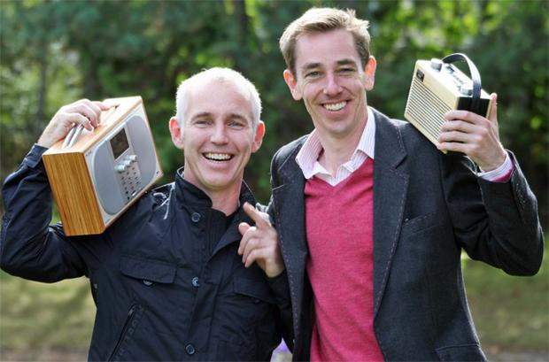 Today FM's Ray D'Arcy and RTE's Ryan Tubridy celebrating new radio listenership figures yesterday