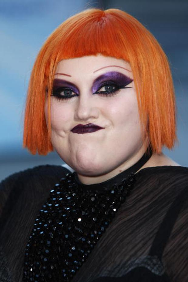 LONDON, ENGLAND - SEPTEMBER 08: **UK TABLOID NEWSPAPERS OUT** Beth Ditto of The Gossip arrives at the 2009 Barclaycard Mercury Prize held at The Grosvenor House Hotel on September 8, 2009 in London, England. (Photo by Dave Hogan/Getty Images)