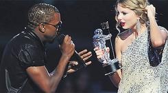 Here's what I think: Kanye West interrupts Taylor Swift during her VMA acceptance speech