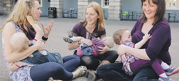 Working together: Mary Eileen Lalor, Adrienne Corless and Chris Finn are involved in the Friends of Breastfeeding group. Pictures by Claire Wilson