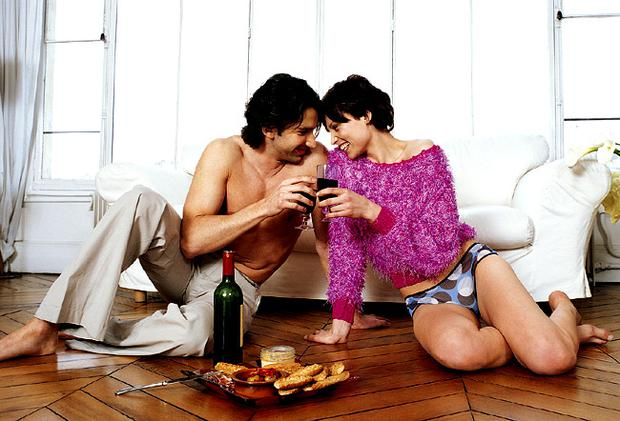75 per cent of women drink a glass of wine or two before getting into bed with their partners. Library/Getty Images
