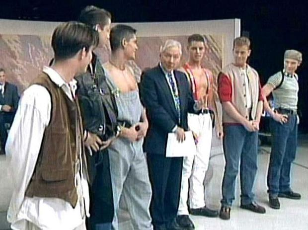 Stephen and Boyzone made their tv debut in 1993 on The Late Late Show. Their performance was widely criticised, but they went on to become household names. Photo courtesy RTE.