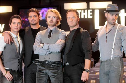 Boyzone on the 'Late Late Show' in 2007