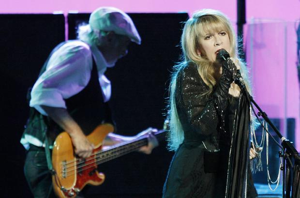John McVie and Stevie Nicks of Fleetwood Mac. Photo: Getty Images