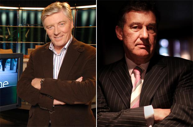 TV3's hit show 'The Apprentice', starring businessman Bill Cullen, right, is drawing more viewers on a Monday night than RTE1's 'The Frontline' with Pat Kenny, left