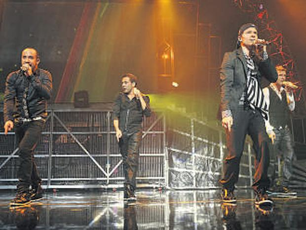 Backstreet Boys on stage at the O2.