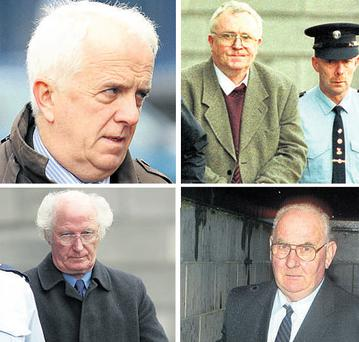 Clockwise from top left, former Christian Brothers Sean Drummond, Patrick Kelly, Maurice Tobin and Stephen Allen, who have already been convicted of abuse in the courts