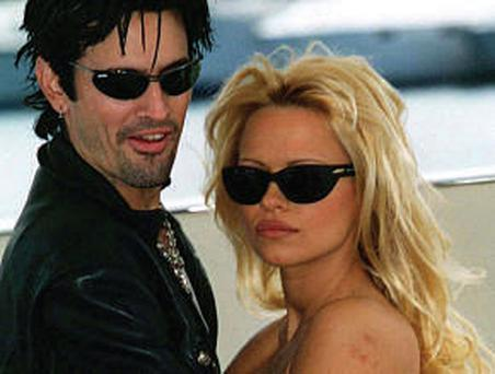 Web hit: Tommy Lee and Pamela Anderson's honeymoon antics very popular