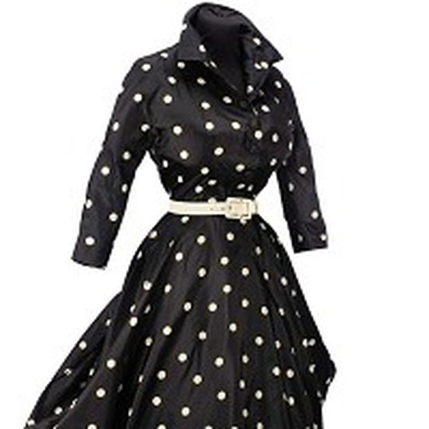 Black Spotted Day dress from Anne Moen Bullitt collection, which is to be auctioned