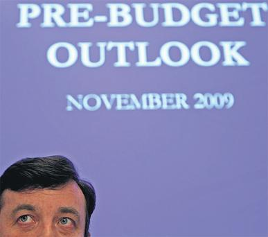 Budget bashing on the way: Finance Minister Brian Lenihan is set to deliver another savage Budget tomorrow week.
