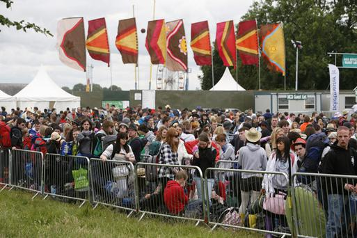 The long queues at Oxegen 2009. Photo: Kieran O'Brien