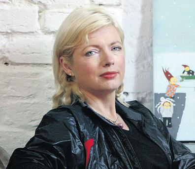 FRUSTRATED: Writer and artist Brighid McLaughlin, found her attempts to investigate the murder of Bernadette Connolly, foiled by Fr Columba Oliver Kelly.