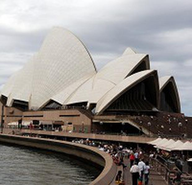 General view of the Opera House in Sydney, Australia