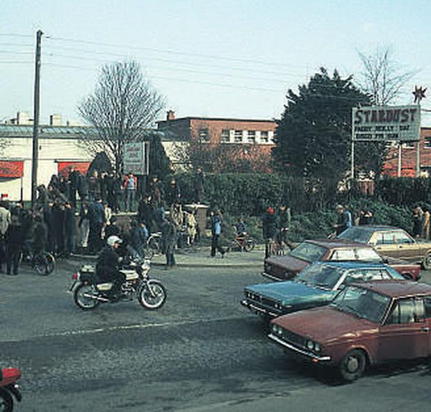 TRAGEDY: The scene of the 1981 Stardust disco blaze which claimed the lives of the teenage sisters of Antoinette Keegan