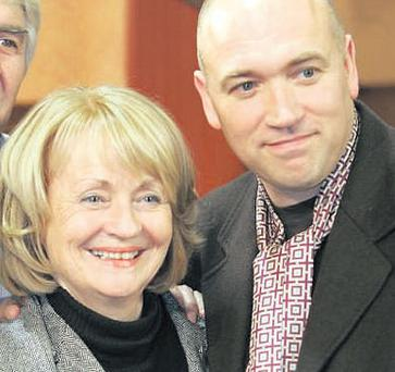 Joan Brosnan-Walsh celebrating the 2,000th episode of 'Fair City' with co-star Tony Tormey in 2006. The actress played Mags Kelly in the popular soap for almost 20 years until leaving in January this year.