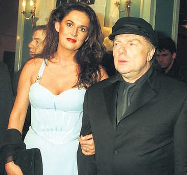 VAN GUARDED: The singer, pictured here with Michelle Rocca Morrison, has always kept a low public profile.