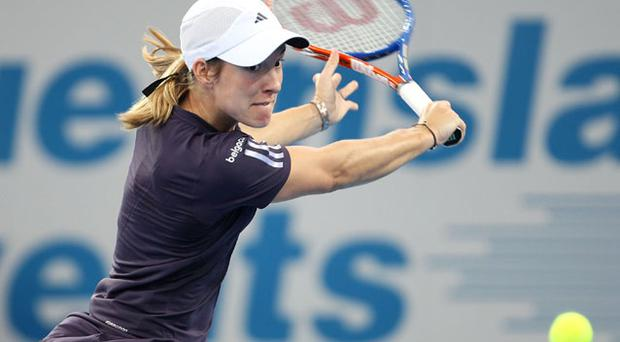 Justine Henin in the Brisbane International 2010 Photo: Getty Images
