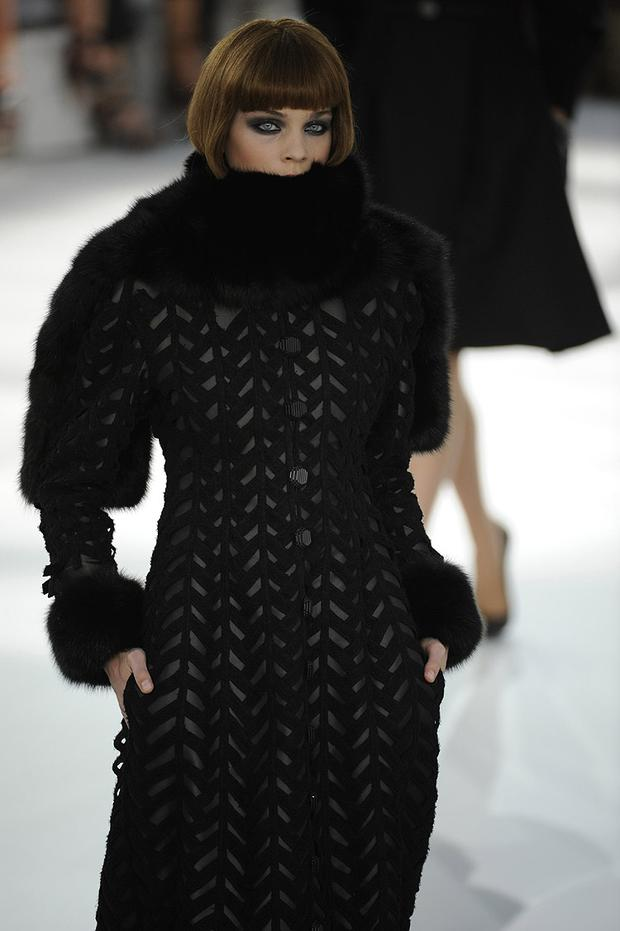 A model wraps up warmly in Chanel. Photo: Getty Images