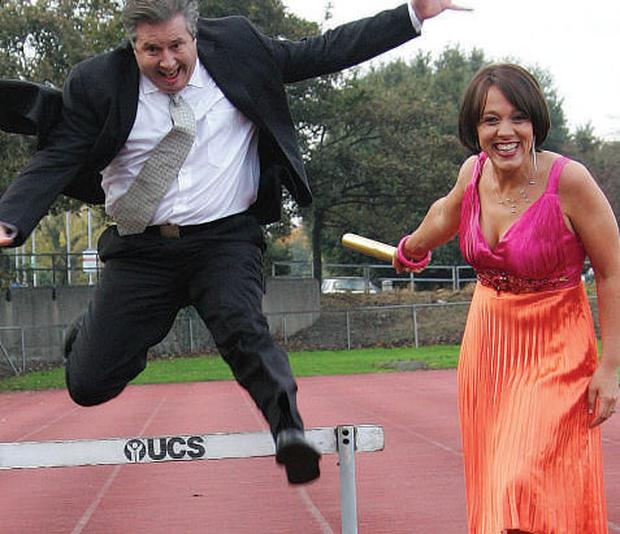 New look: The politicans taking part in Gerry Ryan's 'Operation Transformation' should set a good example. Gerry is pictured here with presenter Evelyn O'Rourke