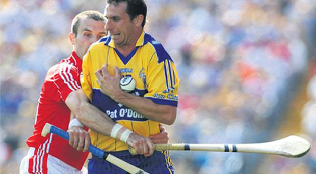 Tony Griffin (front) willl not return to the Clare hurling squad
