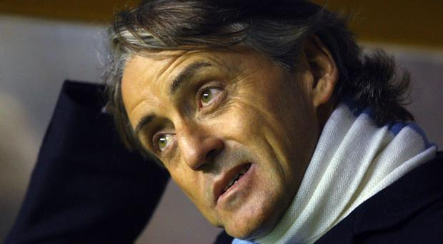 Mancini want to remove the City Ticker banner Photo: Getty Images