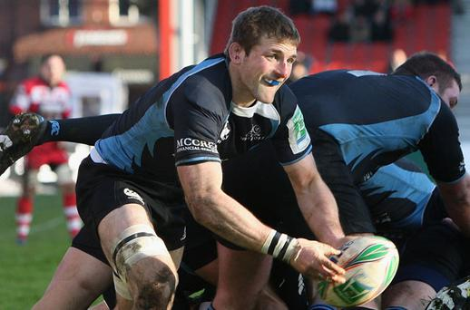 Glasgow flanker John Barclay throws down the gauntlet to Leinster Photo: Getty Images