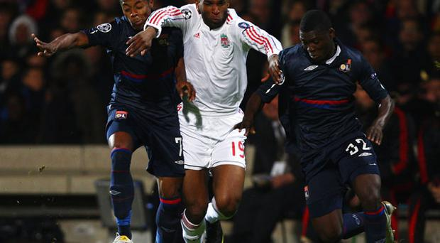 Dutchman Ryan Babel (Centre) may be on his way out of Anfield Photo: Getty Images