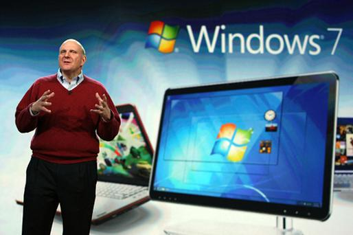 Microsoft CEO, Steve Ballmer, didn't unveil a Tablet at the CES. Photo: Getty Images